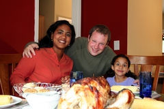 Thanksgiving Family Dinner Stock Images