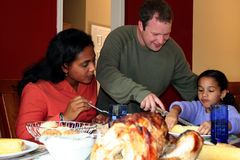 Thanksgiving Family Dinner stock image