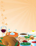 Thanksgiving Feast Background Stock Photos