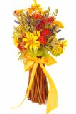Thanksgiving flowers over white Stock Images