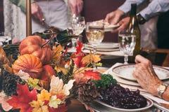 Thanksgiving: Focus On Centerpiece Autumn Decoration stock photo