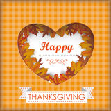 Thanksgiving Foliage Heart Hole Royalty Free Stock Photography