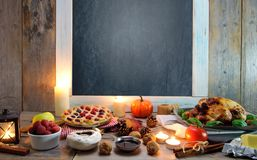 Thanksgiving meal background Stock Images