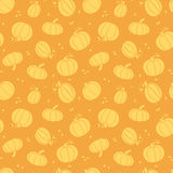 Thanksgiving golden pumpkins seamless pattern. Vector Thanksgiving golden pumpkins seamless pattern background with hand drawn elements stock illustration