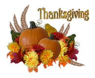 Thanksgiving graphic pumpkins stock illustration
