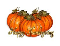 Thanksgiving graphic pumpkins royalty free illustration