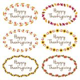 Thanksgiving graphics with oval frames Stock Images