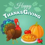 Thanksgiving greeting background Stock Photos