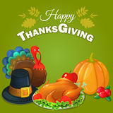 Thanksgiving greeting background Stock Photo