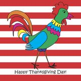 Thanksgiving greeting card. vector illustration