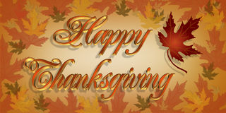 Thanksgiving Greeting card 3D text royalty free illustration