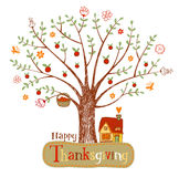 Thanksgiving greeting card Stock Image