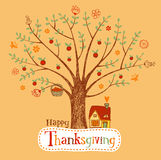 Thanksgiving greeting card Royalty Free Stock Photo