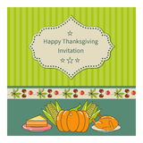 Thanksgiving greeting card Royalty Free Stock Photos