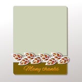 Thanksgiving - greeting card design Royalty Free Stock Photography