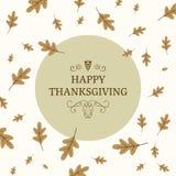 Thanksgiving Greeting Card Design Royalty Free Stock Image