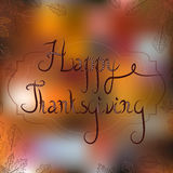 Thanksgiving greeting card with foliage and Royalty Free Stock Photography
