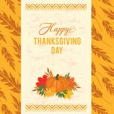 Thanksgiving typography greeting card Royalty Free Stock Photo