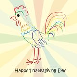 Thanksgiving greeting card. royalty free illustration