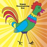 Thanksgiving greeting card. stock illustration