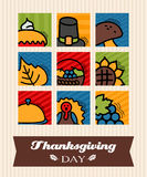 Thanksgiving greeting card. Vector illustration EPS 10 Stock Image