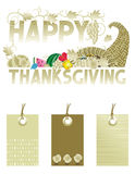 Thanksgiving greeting and tags Stock Images