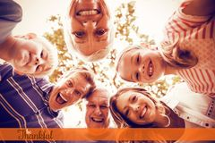 Composite image of thanksgiving greeting text stock photo