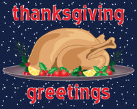 Thanksgiving greetings Royalty Free Stock Image