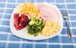 Thanksgiving Ham Dinner Stock Photos