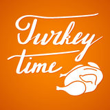 Thanksgiving hand lettering and calligraphy design Royalty Free Stock Photo