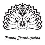 Thanksgiving. Happy thanksgiving. Vector background with turkey Royalty Free Stock Images