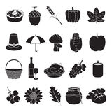 Thanksgiving and harvest icons. 20 Designs of harvest and Thanksgiving icons Royalty Free Illustration