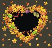 Thanksgiving Heart Frame Stock Image
