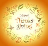 thanksgiving Herbstkranzmuster Entblätterungslaubfall lizenzfreie abbildung
