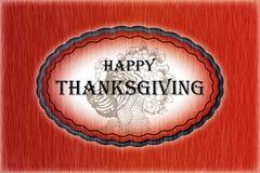 Thanksgiving heureux - carte image libre de droits