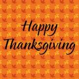 Thanksgiving heureux sur le modèle de feuille d'érable Image stock