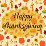 Thanksgiving heureux sur le modèle jeté en l'air de nature d'automne Photo stock