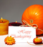 Thanksgiving holiday card Stock Images
