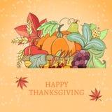 Thanksgiving holiday card Royalty Free Stock Photos