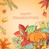Thanksgiving holiday card Stock Photo