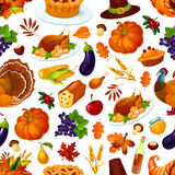 Thanksgiving holiday colorful seamless pattern Stock Photography