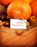 Thanksgiving holiday decoration border stock photo