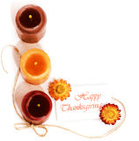 Thanksgiving holiday decorative border Royalty Free Stock Photos