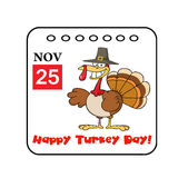 Thanksgiving holiday event cartoon calendar Stock Photo