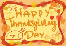 Thanksgiving holiday frame Stock Image