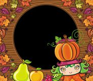 Thanksgiving holiday frame 6 Stock Images