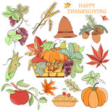 Thanksgiving holiday set Stock Photos