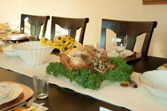 Thanksgiving Holiday Table Setting for Turkey. Thanksgiving Holiday Table Setting Turkey Royalty Free Stock Photography