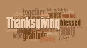 Thanksgiving holiday word montage Stock Images