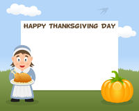 Thanksgiving Horizontal Frame Housewife Royalty Free Stock Photo
